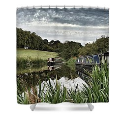 Canal Boats Shower Curtain