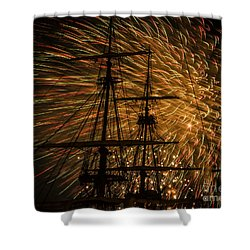 Canal Day Fireworks Finale Shower Curtain