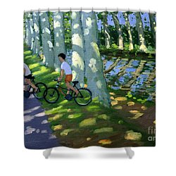 Canal Du Midi France Shower Curtain by Andrew Macara