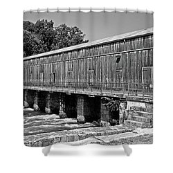 Canal Headgates Shower Curtain by Kay Lovingood