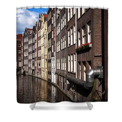 Canal Houses Shower Curtain by Joan Carroll