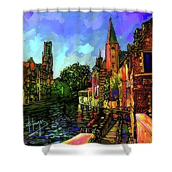 Canal In Bruges Shower Curtain
