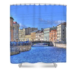 Canal In St. Petersburgh Russia Shower Curtain