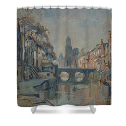 Canal In Utrecht Shower Curtain