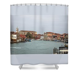 Canal Of Murano Shower Curtain