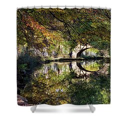 Canal Path In Autumn Shower Curtain