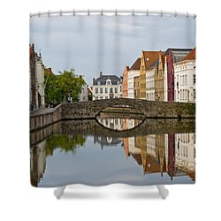 Canal Reflections Shower Curtain