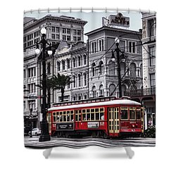 Canal Street Trolley Shower Curtain by Tammy Wetzel