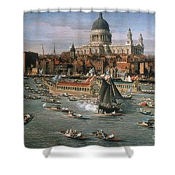 Canaletto: Thames, 18th C Shower Curtain by Granger