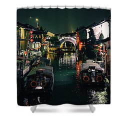 Canals Of Suzhou Shower Curtain