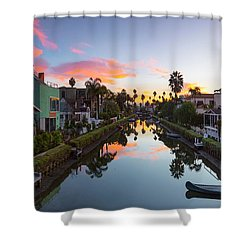 Canals Of Venice Beach Shower Curtain