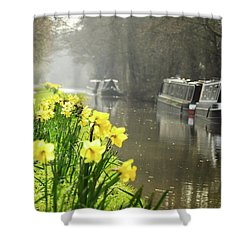 Canalside Daffodils Shower Curtain