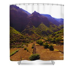 Canarian Agriculture Shower Curtain