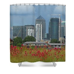 Canary Wharf 01 Shower Curtain