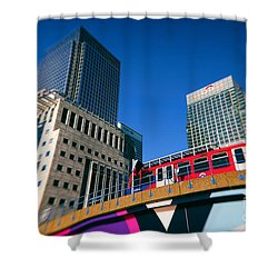 Canary Wharf Commute Shower Curtain