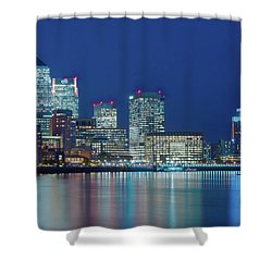 Shower Curtain featuring the photograph Canary Wharf by Stewart Marsden