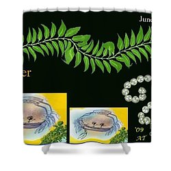 Shower Curtain featuring the digital art Cancer by The Art of Alice Terrill