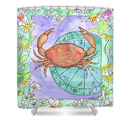 Shower Curtain featuring the painting Cancer by Cathie Richardson