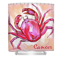 Cancer The Crab Shower Curtain