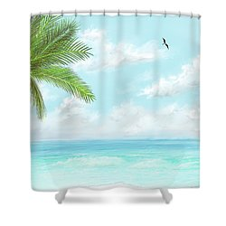 Shower Curtain featuring the digital art Cancun At Christmas by Darren Cannell