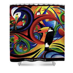 Cancun Christmas Shower Curtain