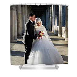 Candid Wedding Shot Shower Curtain