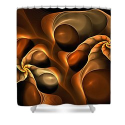 Candied Caramel Twists Shower Curtain