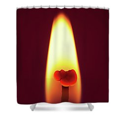 Candle Flame Macro Shower Curtain by Wim Lanclus