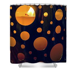 Shower Curtain featuring the photograph Candle Holder by Carlos Caetano