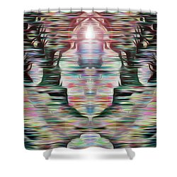 Shower Curtain featuring the digital art Alignment by Mark Greenberg