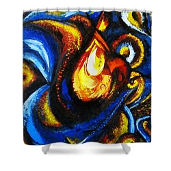 Shower Curtain featuring the painting Candle In Your Heart by Harsh Malik