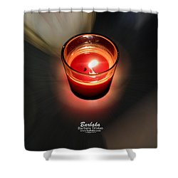 Candle Inspired #1173-3 Shower Curtain by Barbara Tristan