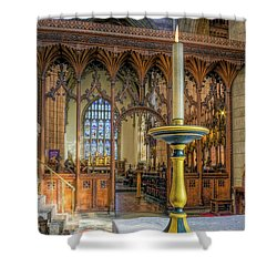 Shower Curtain featuring the photograph Candle Of  Prayer by Ian Mitchell