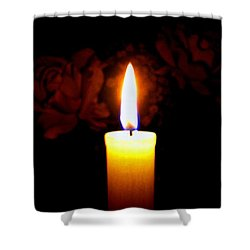 Candlelight And Roses Shower Curtain