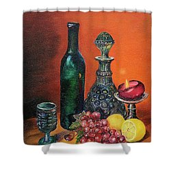 Candlelight Decanter Shower Curtain