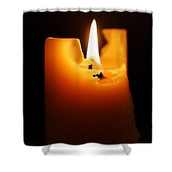 Candlelight Shower Curtain by Rona Black