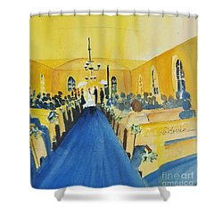 Candlelight Wedding At The Historic Ryssby Church Shower Curtain