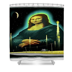 Candles For Mona Shower Curtain by Scott Ross