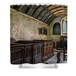 Shower Curtain featuring the photograph Candles In Old Church by Adrian Evans