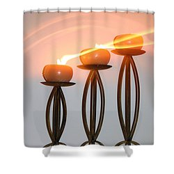 Candles In The Wind Shower Curtain by Kristin Elmquist