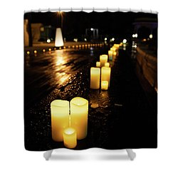 Candles On The Beach Shower Curtain