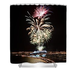 Candles On The Cobb  Shower Curtain by Gary Bridger