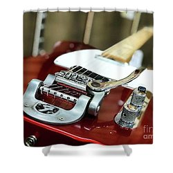 Candy Apple Fender Shower Curtain