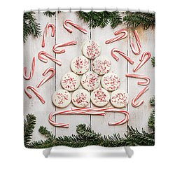 Shower Curtain featuring the photograph Candy Cane Lane by Kim Hojnacki