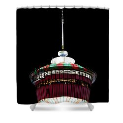 Shower Curtain featuring the photograph Candy Cane Tower by Brad Allen Fine Art