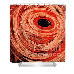 Shower Curtain featuring the digital art Candy Chaos 1 Abstract by Andee Design