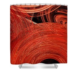 Shower Curtain featuring the digital art Candy Chaos 2 Abstract by Andee Design