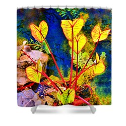 Candy Colored Aquatic Shower Curtain