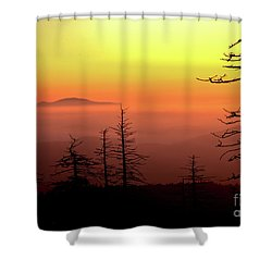 Shower Curtain featuring the photograph Candy Corn Sunrise by Douglas Stucky