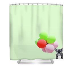 Candy Dog Shower Curtain